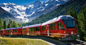 Trenino rosso Bernina Express @ St. Moritz - Tirano